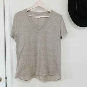 Lou & Grey v neck tee shirt large striped